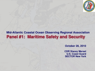 October 28, 2010    CDR Stacey Mersel U.S. Coast Guard SECTOR New York