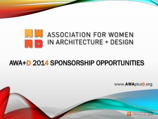 AWA+ D 201 4 SPONSORSHIP OPPORTUNITIES