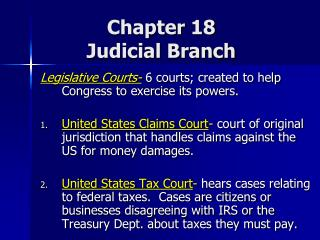 Chapter  18 Judicial Branch
