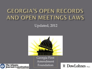 Georgia's Open Records and open meetings Laws
