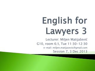 English for Lawyers 3