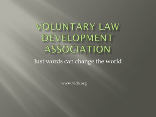 Voluntary Law development association