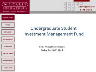 Undergraduate Student Investment Management Fund
