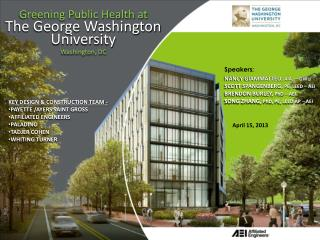 Greening Public Health at The George Washington University Washington, DC
