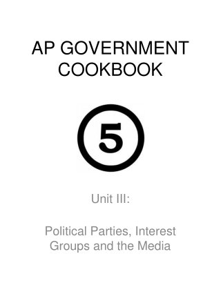 AP GOVERNMENT COOKBOOK