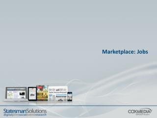 Marketplace: Jobs