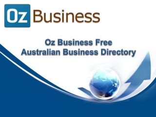 Oz Business Free Australian Business Directory