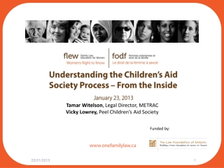 Understanding the Children's Aid Society Process – From the Inside January 23, 2013