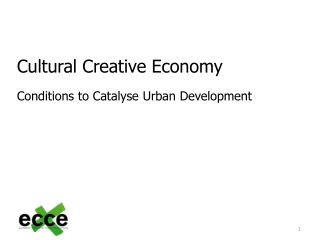 Cultural  Creative  Economy Conditions to C atalyse U rban  D evelopment