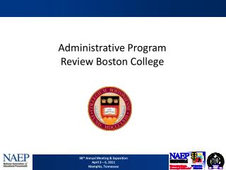 Administrative Program Review Boston College