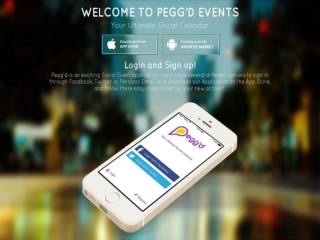 Pegg'd Events - Social event Calendar iOS App | Buy and Sell