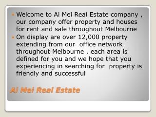 Ai Mei Real Estate
