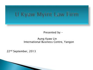 U  Kyaw Myint  Law Firm