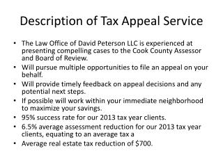Description of Tax Appeal Service