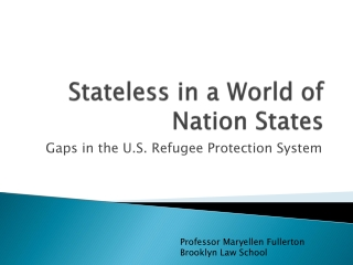 Stateless in a World of Nation States