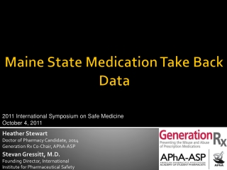 Maine State Medication Take Back Data