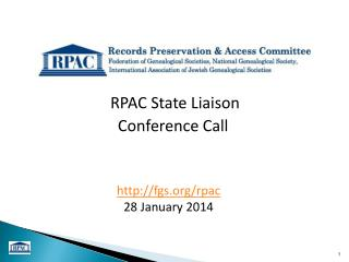 RPAC State Liaison  Conference Call