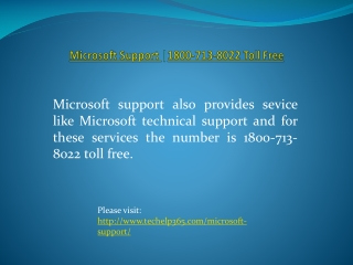 Microsoft Support |1800-713-8022 Toll Free |