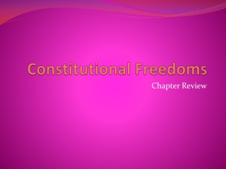 Constitutional Freedoms