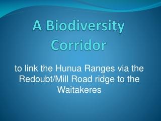 A Biodiversity Corridor