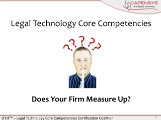 Legal Technology Core  Competencies