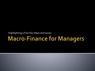 Macro-Finance for Managers