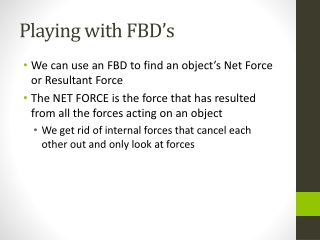 Playing with FBD's