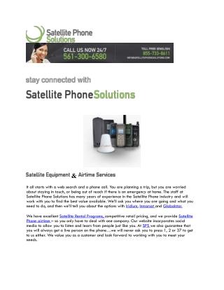 Satellite phone rentals