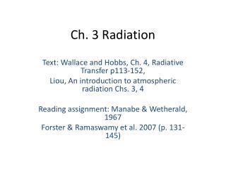 Ch. 3 Radiation