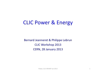 CLIC Power & Energy
