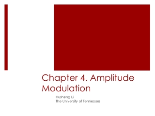Chapter 4. Amplitude Modulation