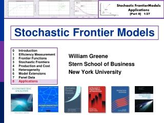 Stochastic Frontier Models