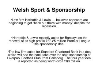 Welsh Sport & Sponsorship
