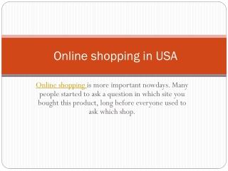 best online shopping usa