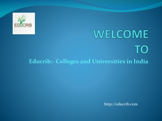 Colleges and Universities in India