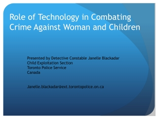 Role of Technology in Combating Crime Against Woman and Children
