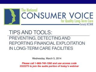 Tips and tools: preventing, detecting and reporting financial exploitation in long-term care facilities