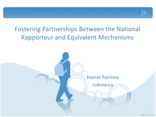 Fostering Partnerships Between the National Rapporteur and Equivalent Mechanisms