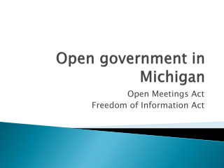 Open government in Michigan