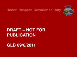DRAFT – NOT FOR PUBLICATION GLB 09/6/2011