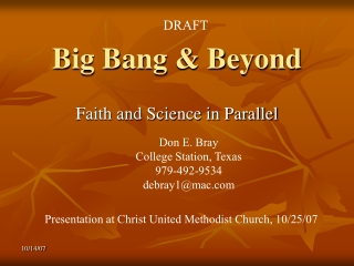 Big Bang & Beyond