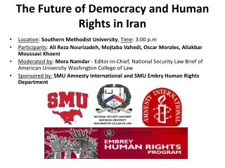 The Future of Democracy and Human Rights in Iran