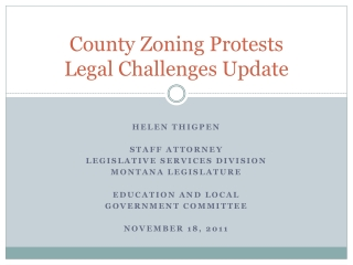 County Zoning Protests Legal Challenges Update