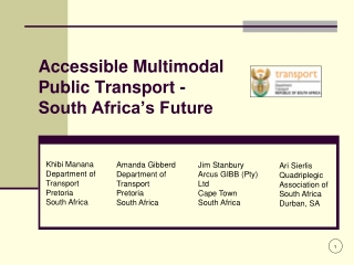 Accessible Multimodal  Public Transport -  South Africa's Future
