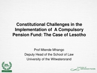Prof  Mtende  Mhango  Deputy Head of the School of Law University of the Witwatersrand