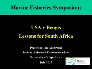 Marine Fisheries Symposium