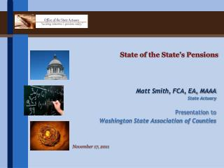State of the State's Pensions