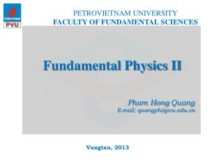 Fundamental Physics II