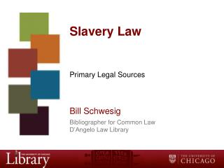 Slavery Law