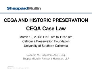 CEQA Case Law